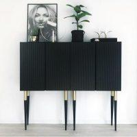 Black Elegant Ikea Ivar Sideboard Hack