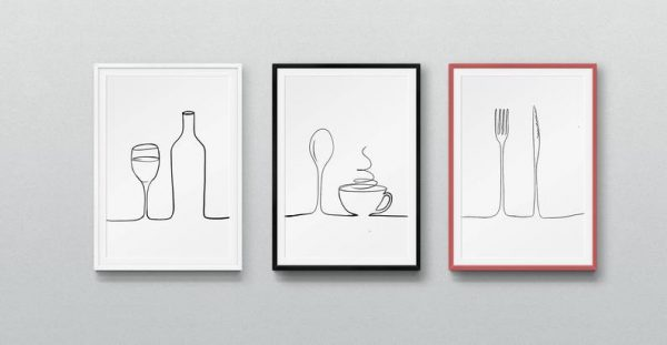 Cutlery Form Kitchen Art Prints
