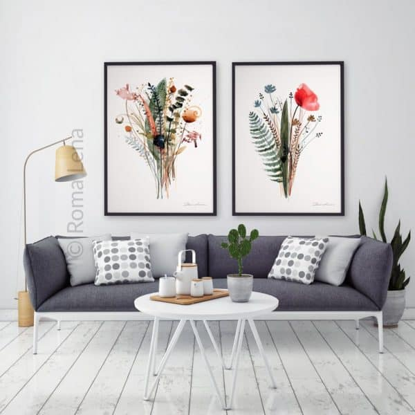 Floral Botanical Kitchen Art Print