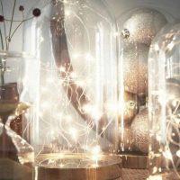 Glass Bell Jar Christmas Lights Hack