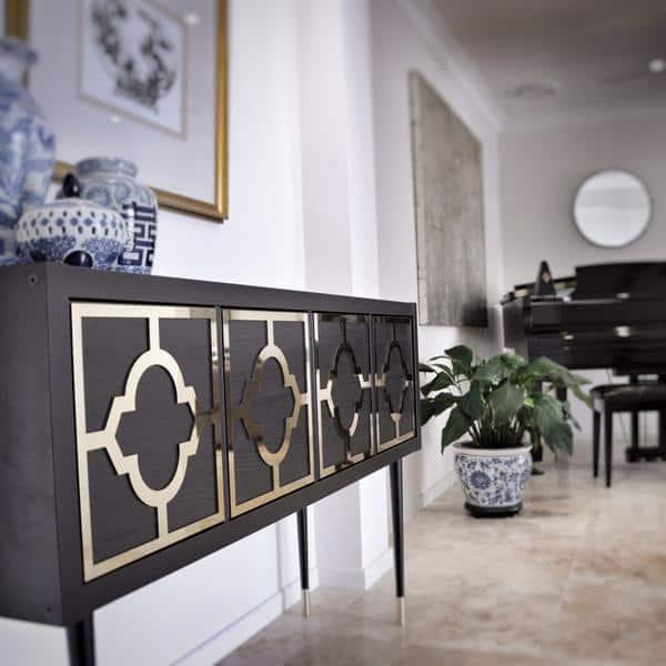 Ikea Kallax Sideboard Hack Lux Hax Gold Mirrored Panels 3
