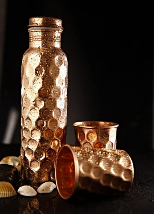 Pure Copper Water Bottle and Cups