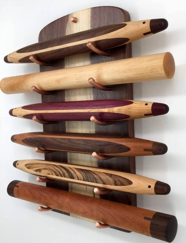 Wooden Rolling Pin Holder Kitchen Accessories